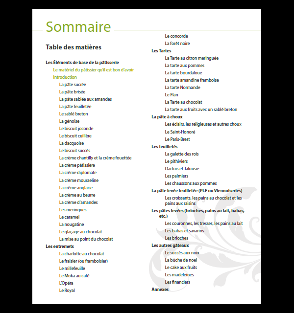 Sommaire ebook