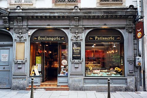 Devanture de boulangerie pâtisserie