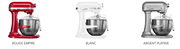 Les couleurs du KitchenAid Heavy Duty