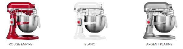 Les couleurs du KitchenAid Pro