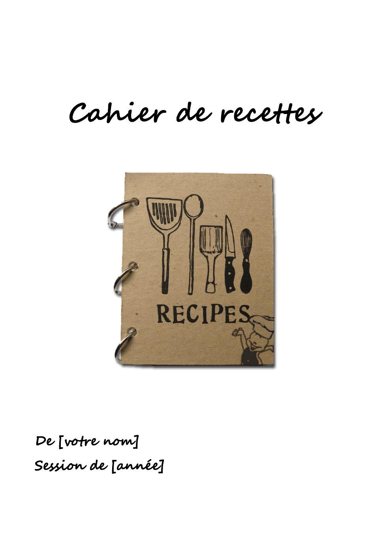 Cahier de recettes 2018